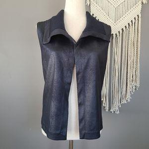 Joseph Ribkoff | Black Vest Sleevless Shrug Size 4